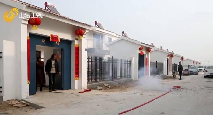 菏泽东明黄河滩区首个迁建村台交付 400多户村民喜迁新居
