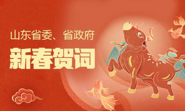 @山东人!来自山东省委、省政府的新年祝福,请查收