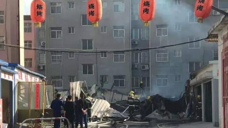 38秒 滨州黄河三路渤海十一路路口附近发生火情 幸无人员伤亡