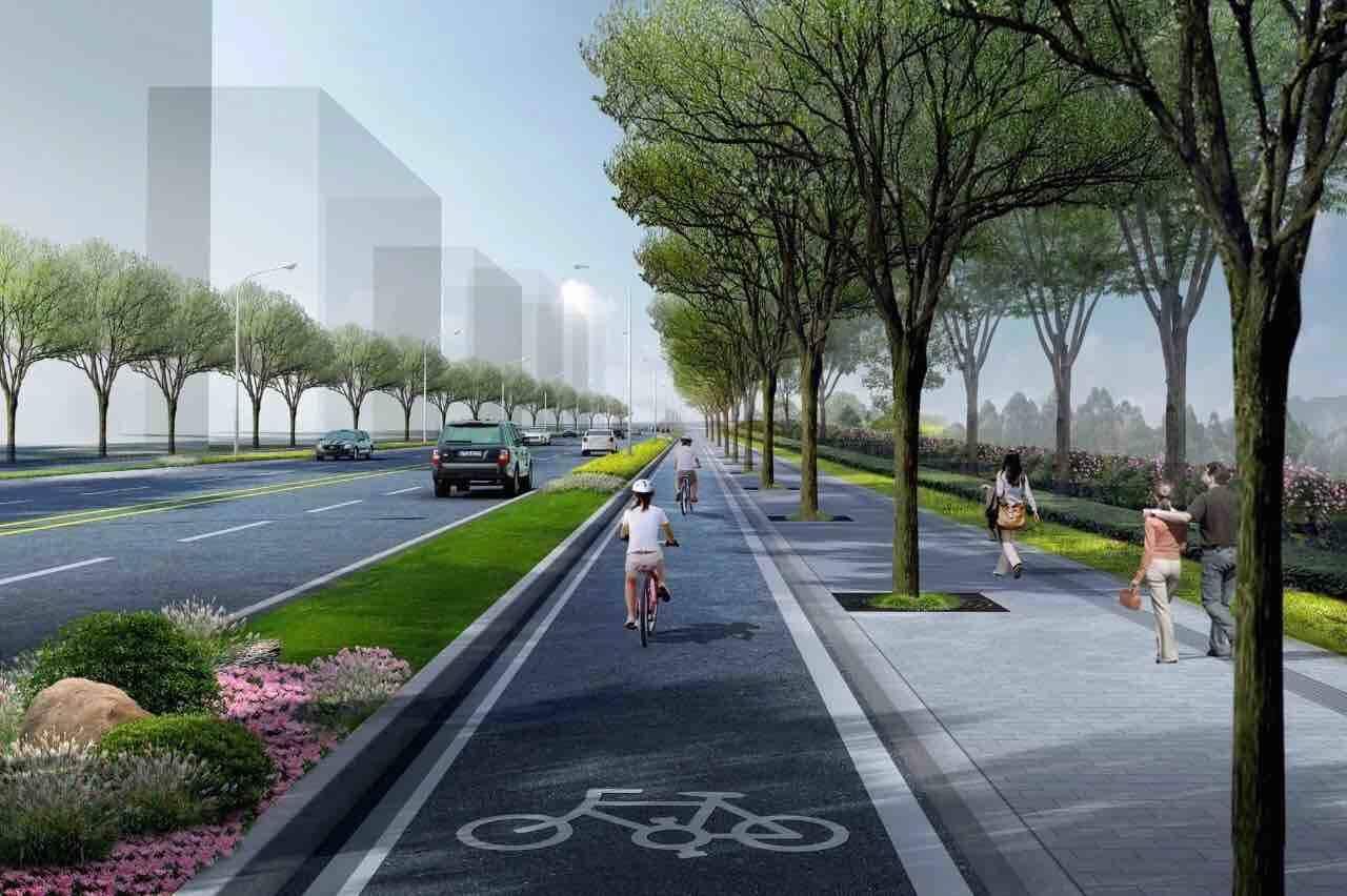 济南先行区都市阳台片区南边界路近期具备通车条件