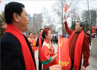 41秒 潍坊昌乐县:红歌快闪颂党恩 民俗线上闹元宵