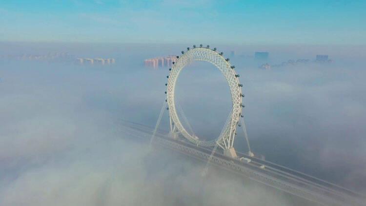 27秒|潍坊滨海:云雾缭绕 宛若仙境