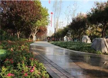 """潍坊高新区""""口袋公园""""广布点 居民休闲娱乐再添好去处"""