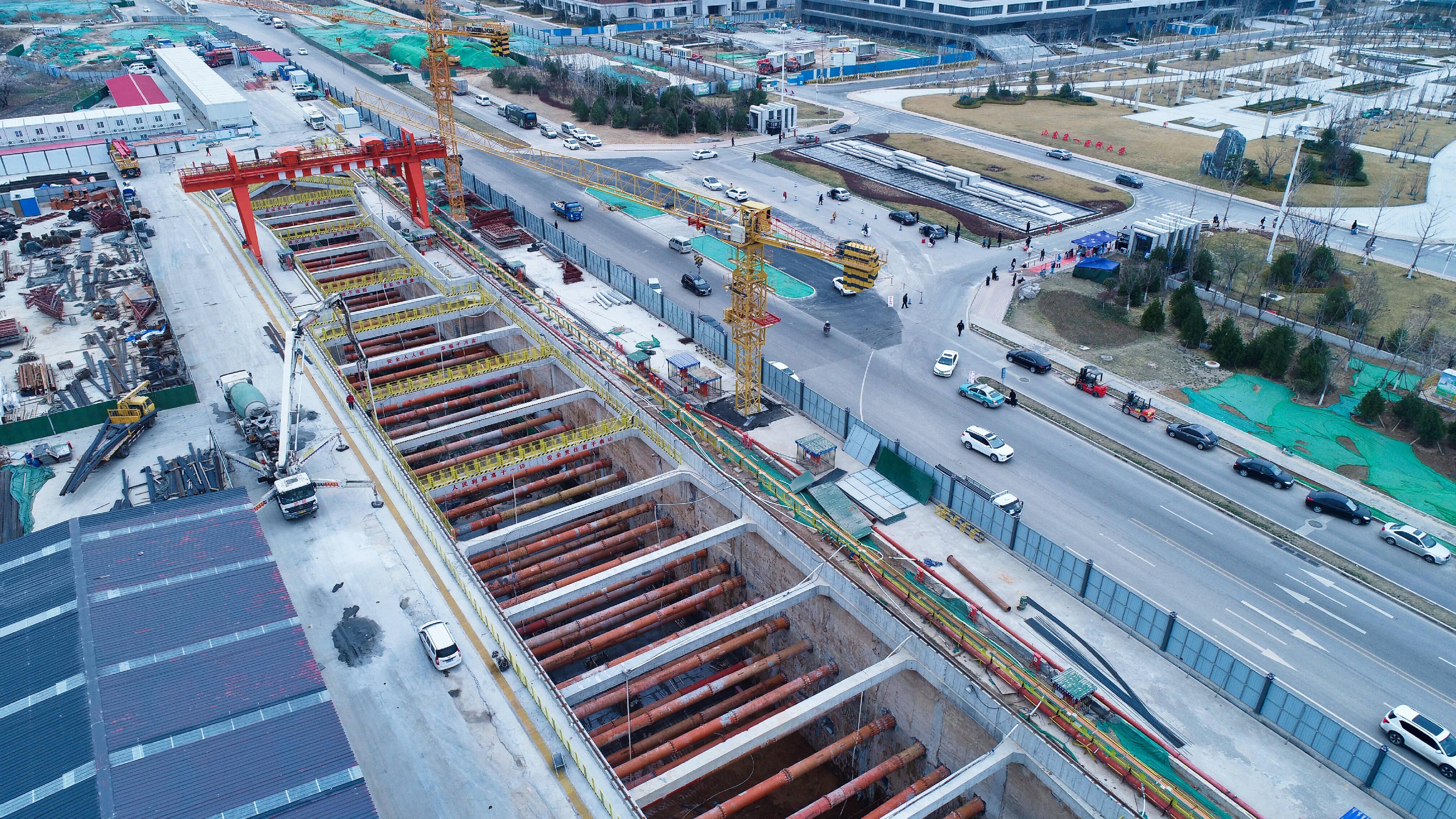 济南地铁4号线7处站点已进场施工 现场图来了
