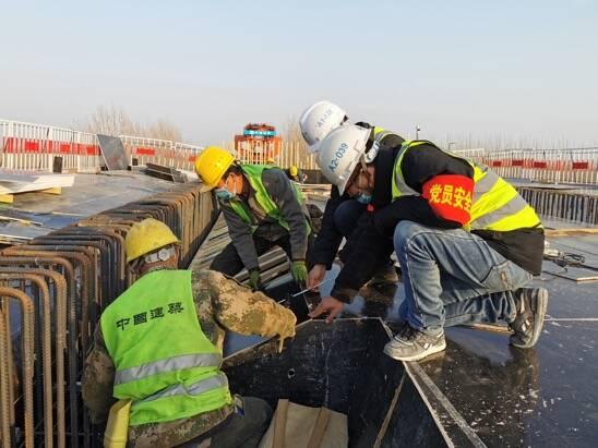 中建八局郑济高铁项目完成聊城段首个连续梁混凝土浇筑