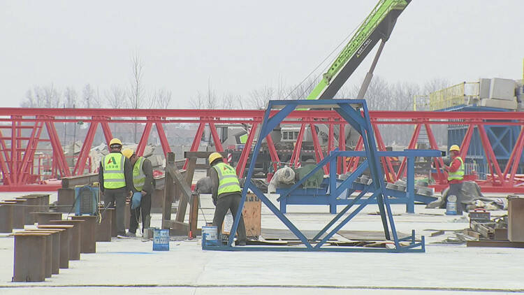 40秒 潍烟高铁昌邑段建设进展顺利 将于8月份开始架梁