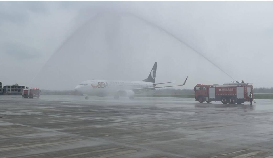 """""""牡丹花开""""!菏泽牡丹机场正式通航 将开通青岛-菏泽-西安等10条航线"""