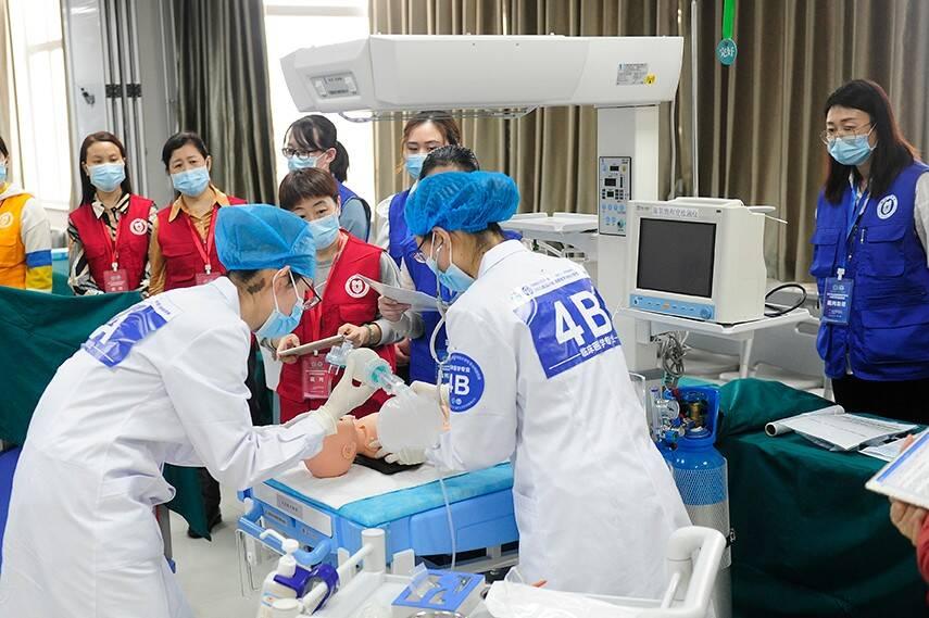 山东8校百名优秀医学生在滨州医学院同台竞技,赛场全景别直播