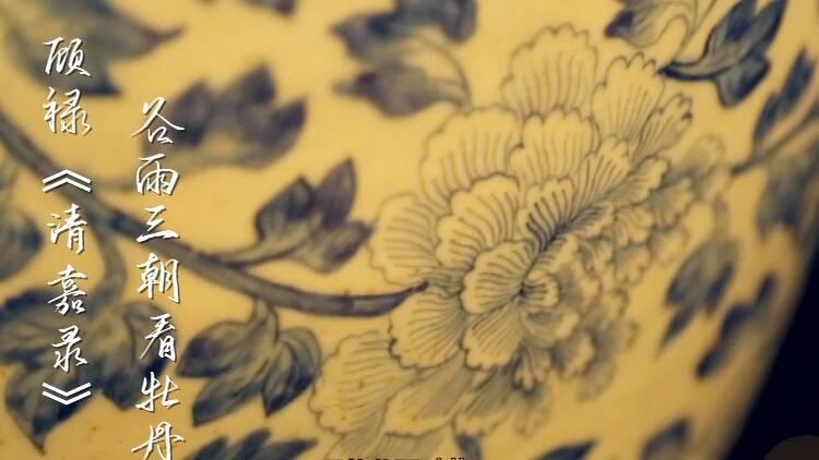 """64秒丨谷雨三朝看牡丹 青岛博物馆""""藏品版二十四节气""""了解一下"""