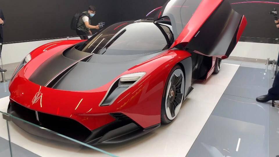 59秒丨百公里加速低于2秒!超级跑车红旗S9发布 最高时速超400公里/小时