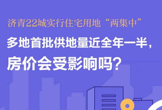 """政能量 济青等22城实行住宅用地""""两集中"""",多地首批供地量近全年一半,房价会受影响吗?"""