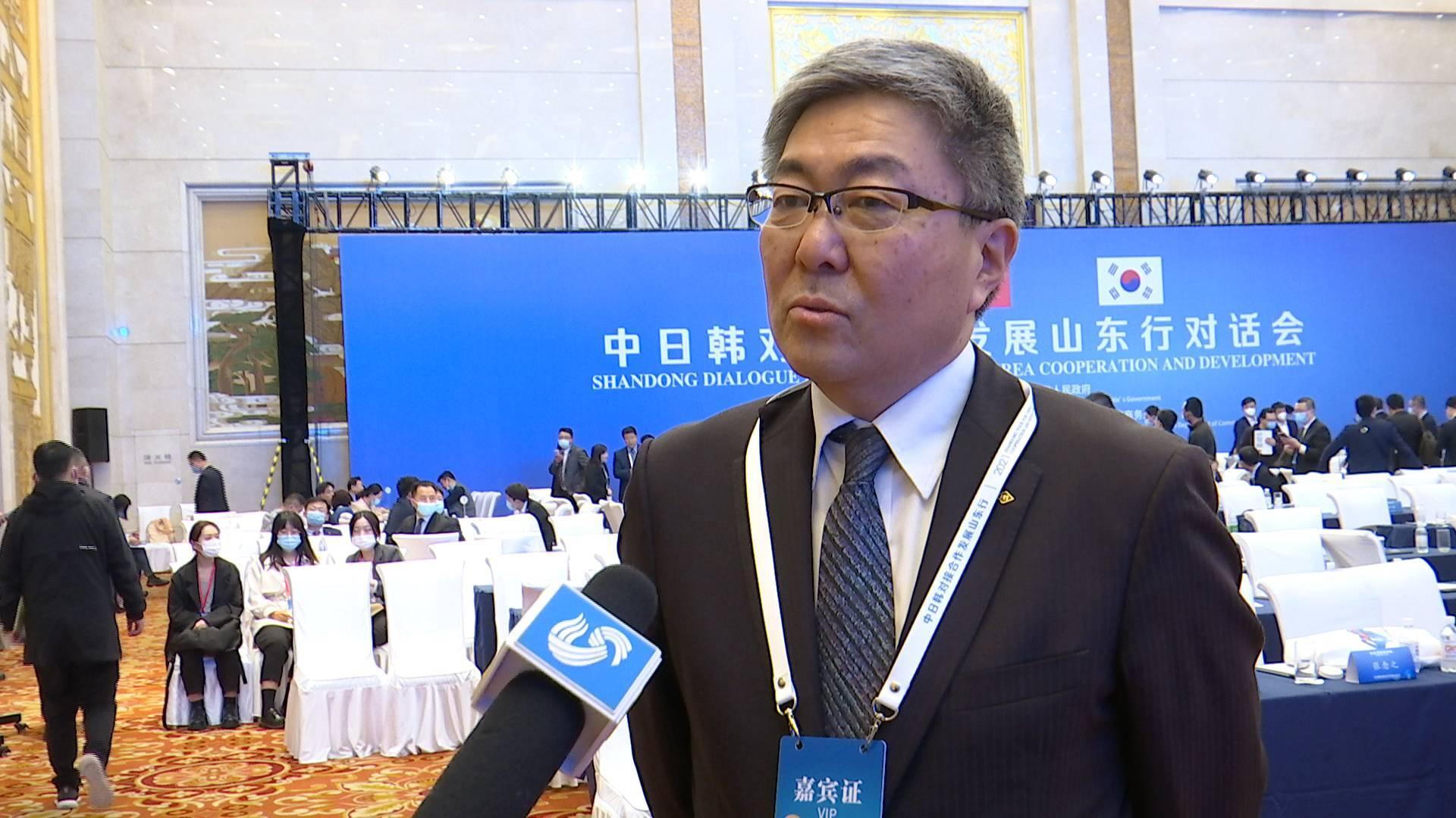 中日韩对接合作发展山东行丨丸红中国副总代表平野雅之:期待二氧化碳减排和新能源领域合作