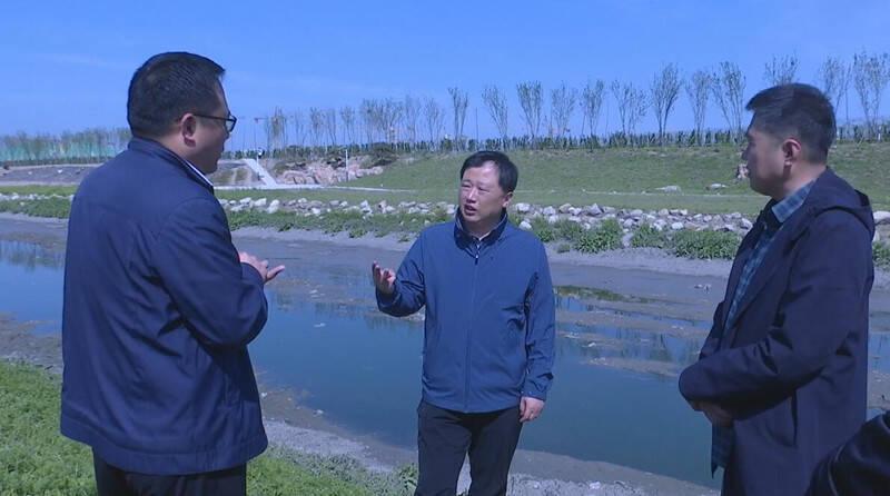 【五一我在岗】潍坊市寒亭区委书记现场查看虞河整治情况