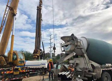潍坊宝通街快速路涉铁路段工程项目桩基全部施工完成