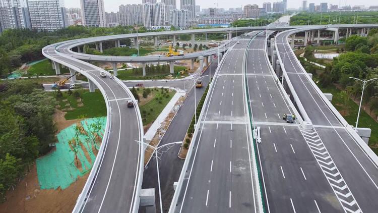 潍坊北海路通亭街交通改造工程5月20日通车 双向6车道