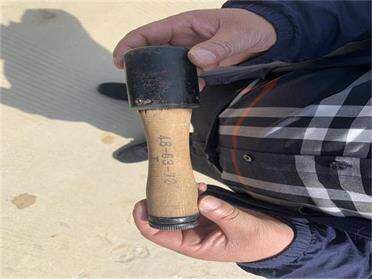 威海一村民處理舊物時發現1枚手榴彈 民警妥善處置除隱患