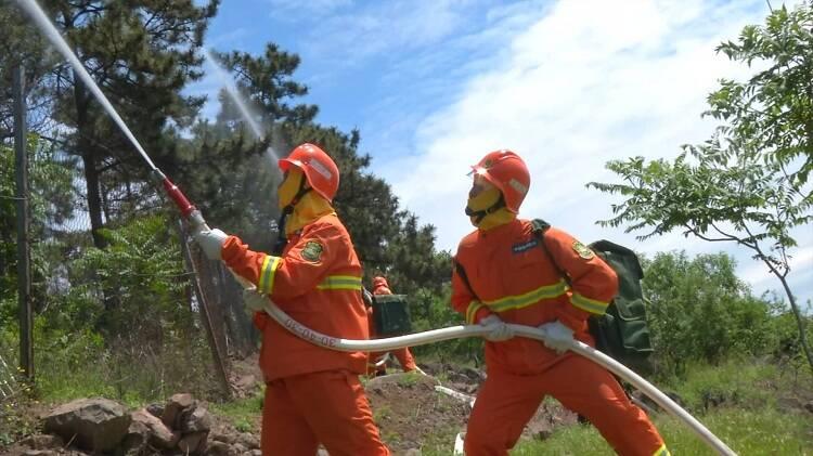 超燃!山东举行森林火灾跨区域灭火救援拉动演练