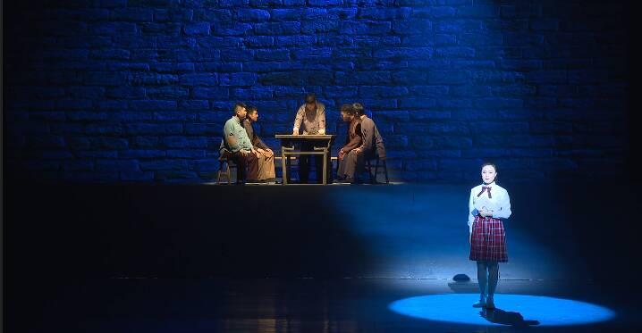 记者实地观看红色音乐剧《尽善尽美》 学生观看备受鼓舞