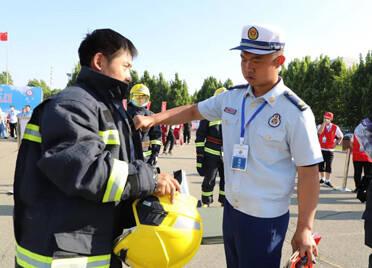 """潍坊市群众性安全生产""""六比""""竞赛和消防安全职业技能竞赛在坊子区开赛"""