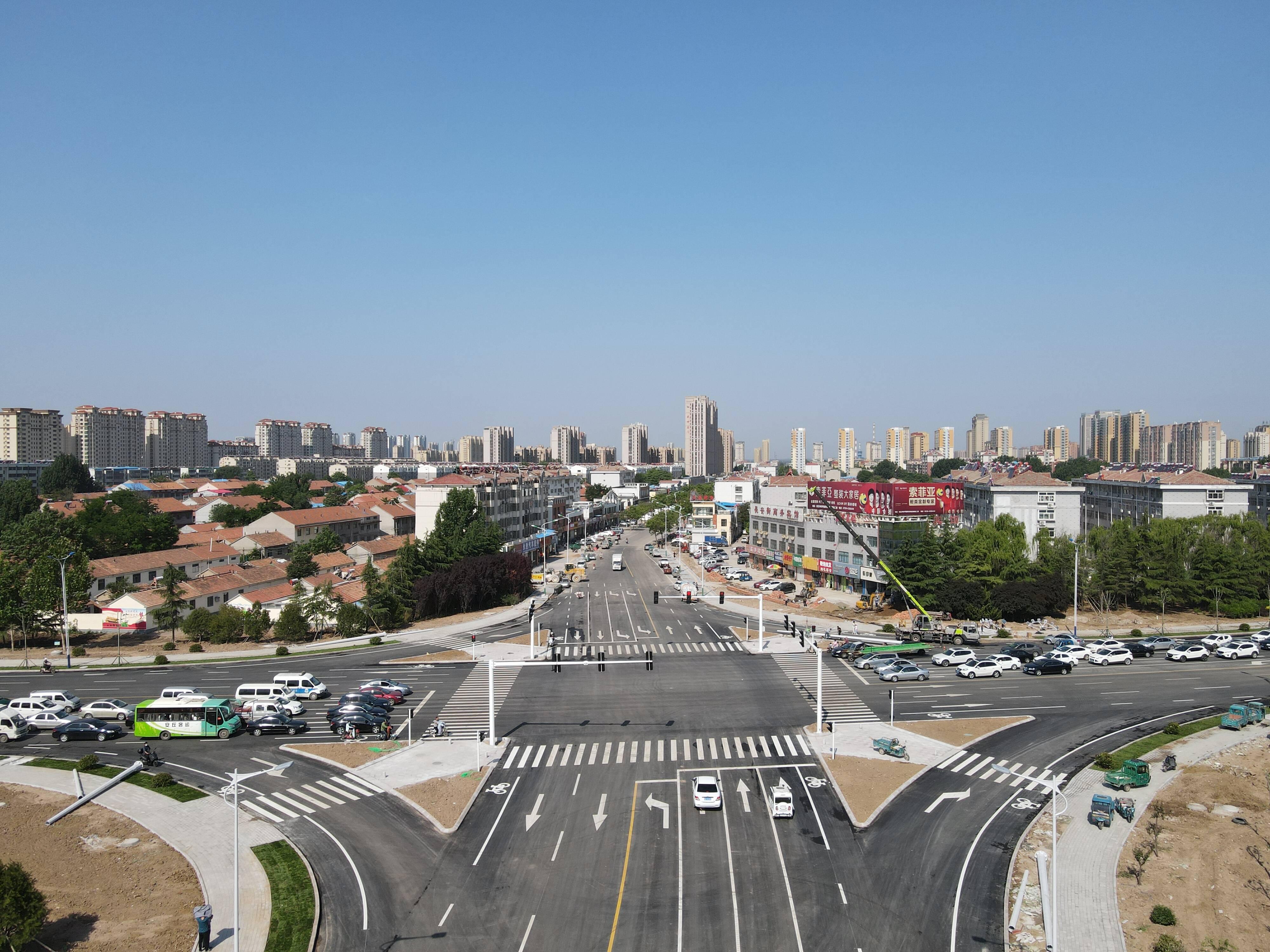 潍坊安丘民生工程贾戈立交桥路口改造竣工通车
