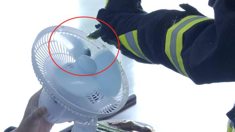 消防實驗|高速運轉的電風扇扇葉竟如此危險!