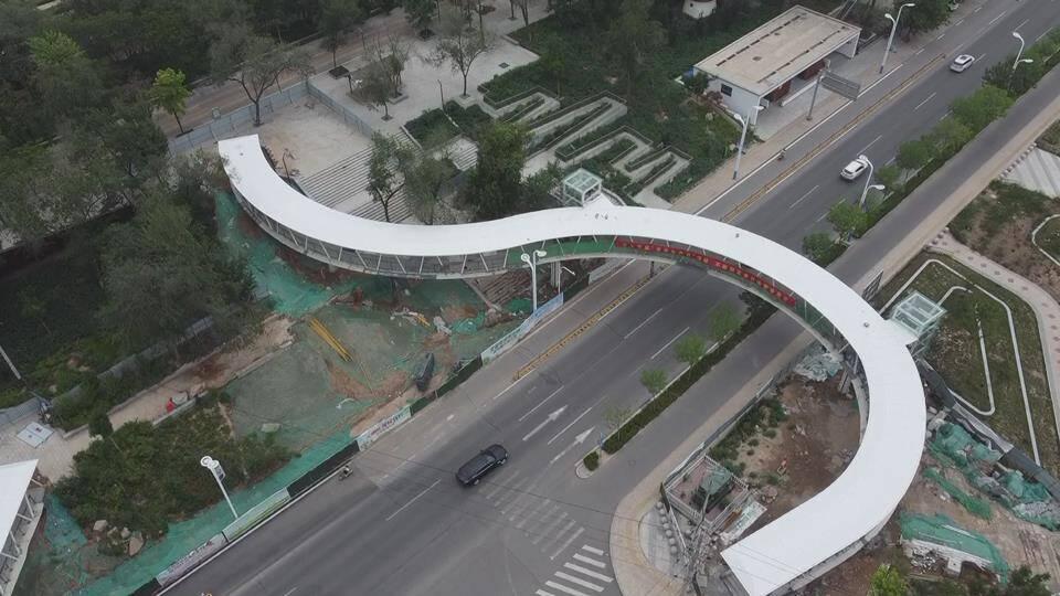 德州文化路过街天桥主体完工,预计6月底北桥竣工投用 ,7月中旬南桥竣工投用