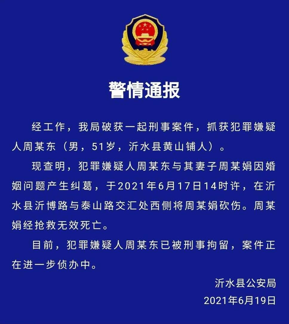 警情通报!沂水县公安局破获一起刑事案件