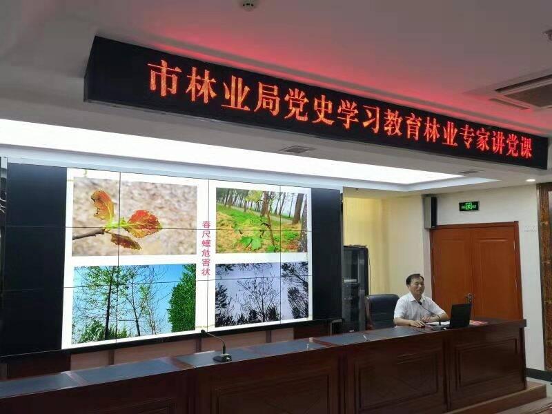 菏泽市林业局举办专家讲党课林业有害生物知识培训   推动党建工作与业务工作同进步