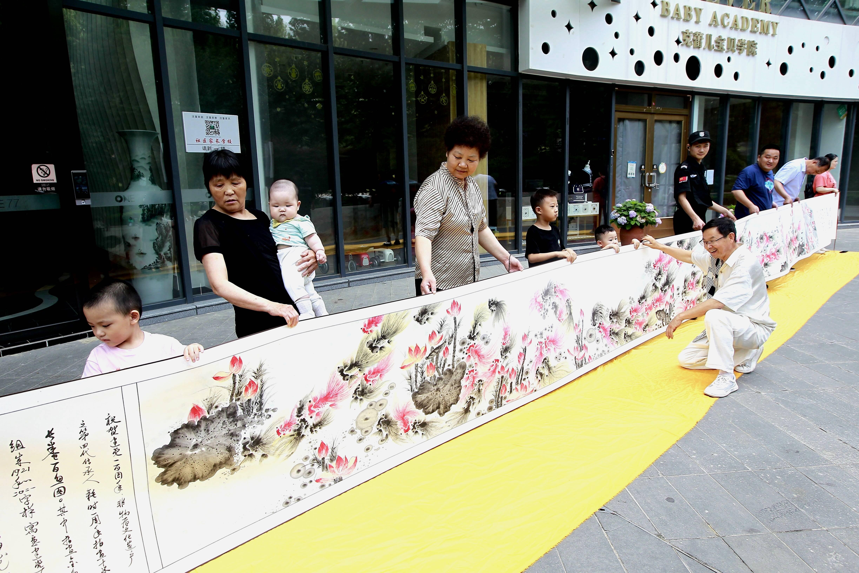 著名指画家陈树勇创作《鸿运当头》庆祝建党百年