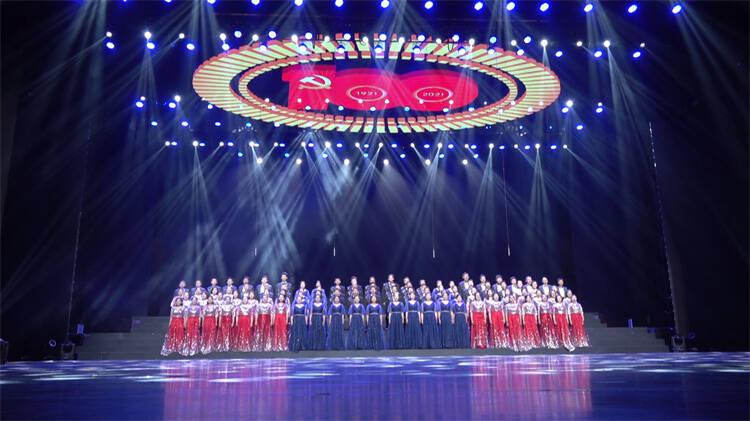 红心向党——潍坊市庆祝中国共产党成立100周年大合唱汇报演出举行
