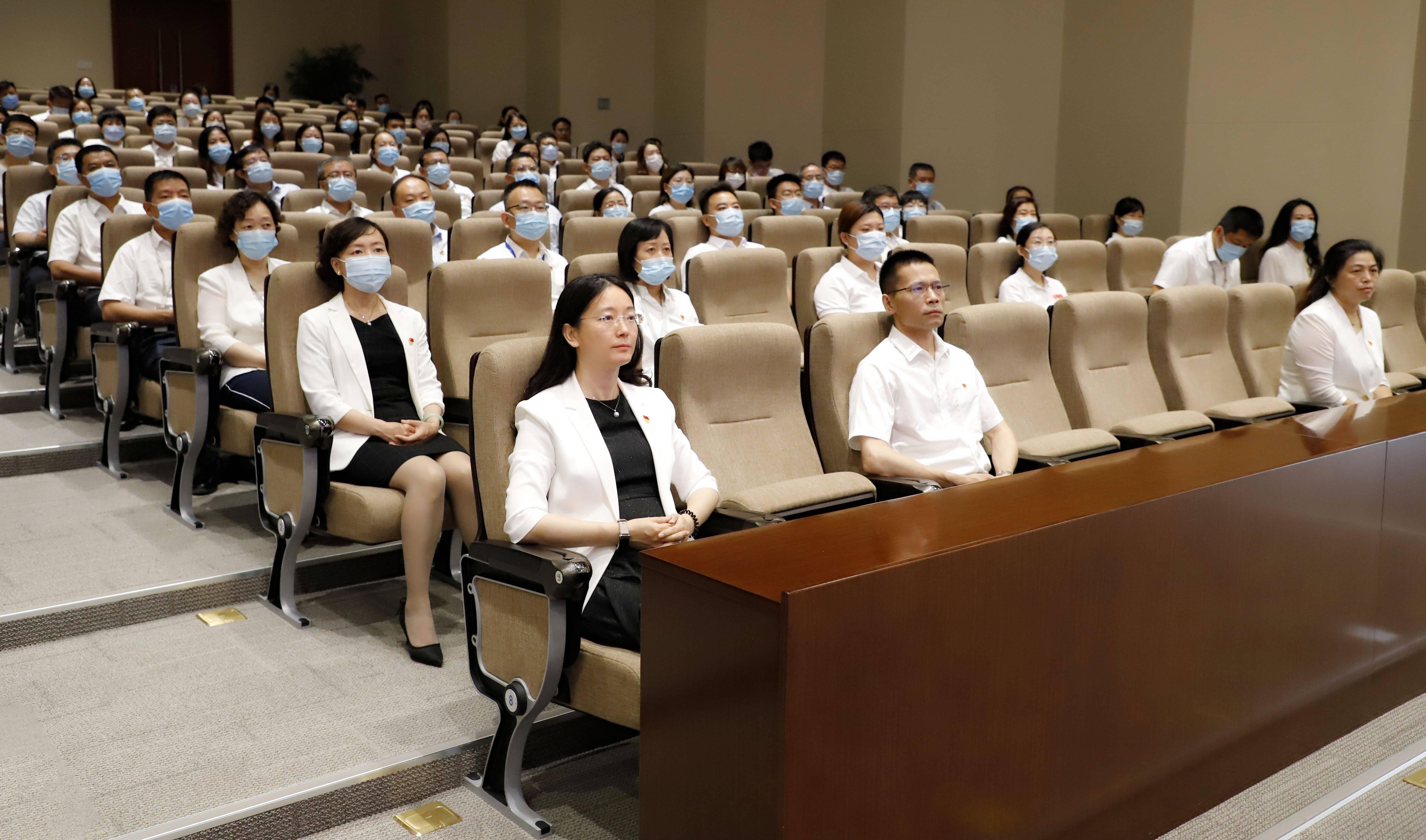 齐鲁制药集团组织党员干部收看庆祝中国共产党成立100周年大会直播盛况