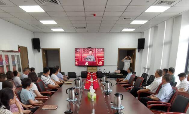 济宁市嘉祥县各单位集体收听收看庆祝中国共产党成立100周年大会
