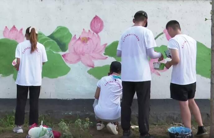 """百名志愿者""""手绘""""美丽乡村!枣庄""""青绘美丽乡村""""志愿服务启动"""