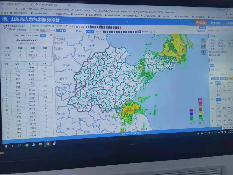 今天全省雨量很小 最大降雨点出现在烟台市牟平区