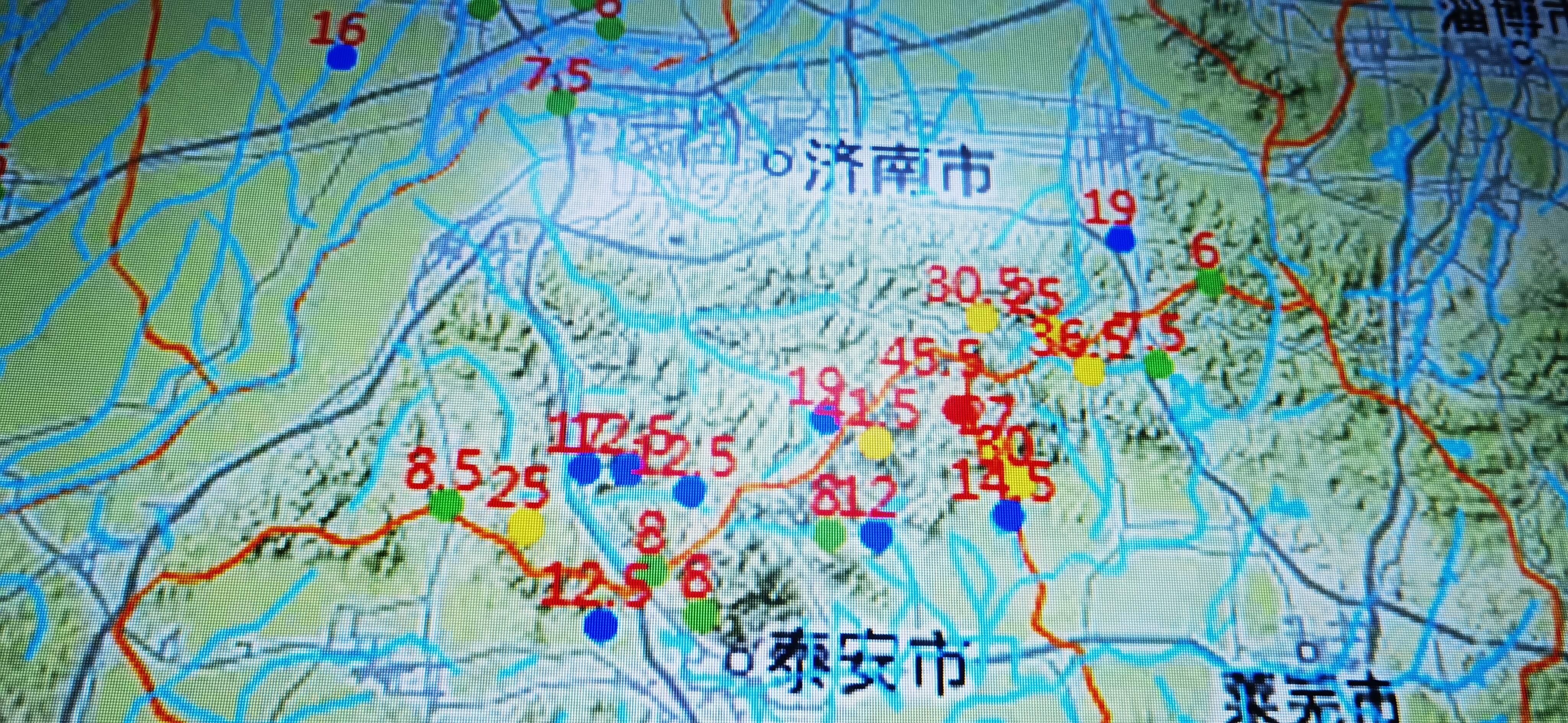 截至13日零时 山东本轮最大降水点在泰安市泰山区