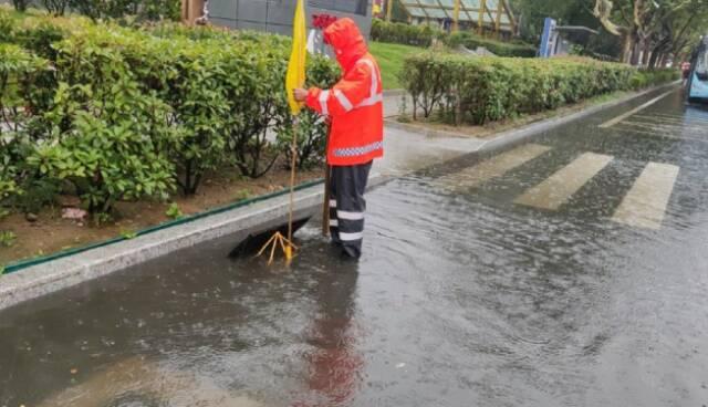 開展道路巡查 威海環翠區市政園林中心啟動防汛應急預案