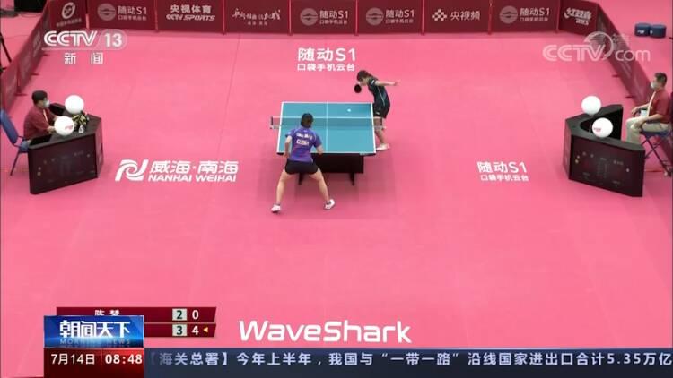 央視《朝聞天下》:東京奧運會開幕在即 國乒隊在威海舉行最后一次熱身賽