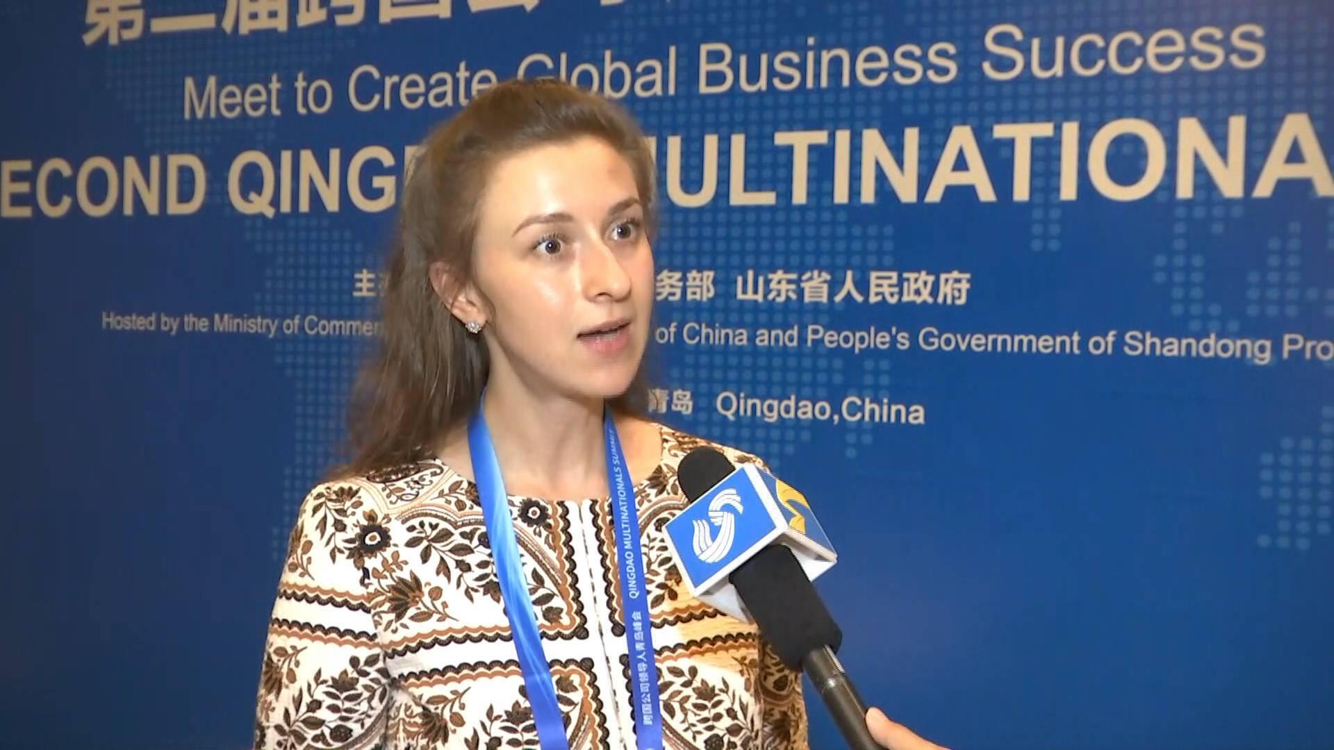 外媒点赞山东|迪拜中阿卫视驻华记者蔼霖娜:参会跨国公司众多期待阿拉伯企业家投资山东