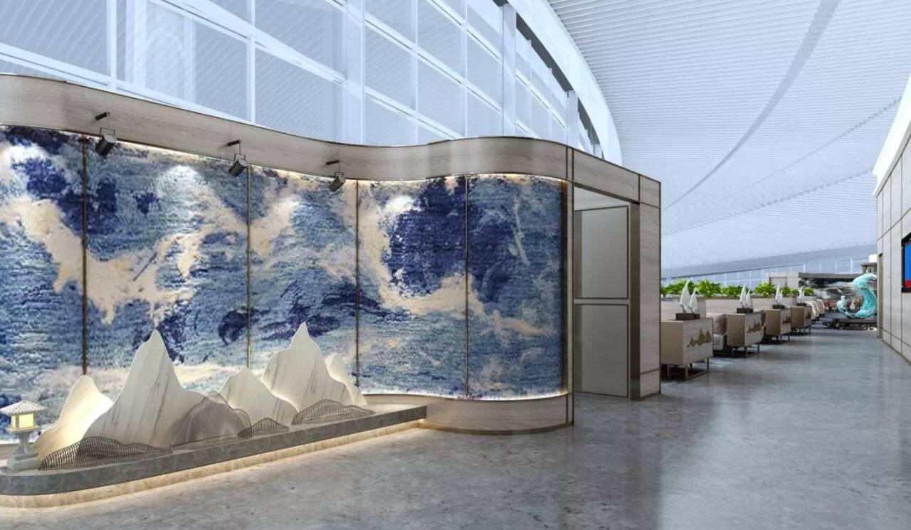 8月12日山航青岛航班将一夜转场,贵宾休息室设计别出心裁