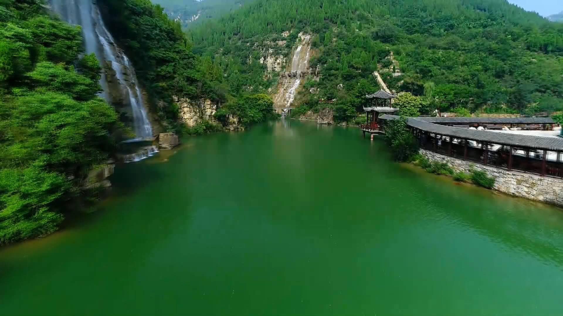 人在画中游~夏日青州黄花溪瀑布飞流 山清水秀