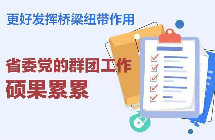 政能量|更好发挥桥梁纽带作用 省委党的群团工作硕果累累!