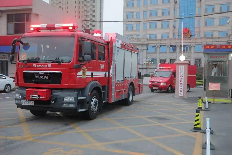 济宁消防50名指战员跨区域增援河南