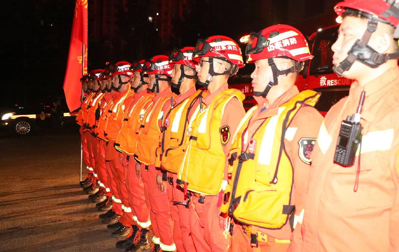 滨州市消防救援支队紧急驰援河南