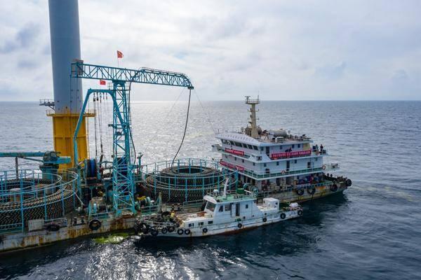 山东省第一个海上风电项目海缆敷设工作启动