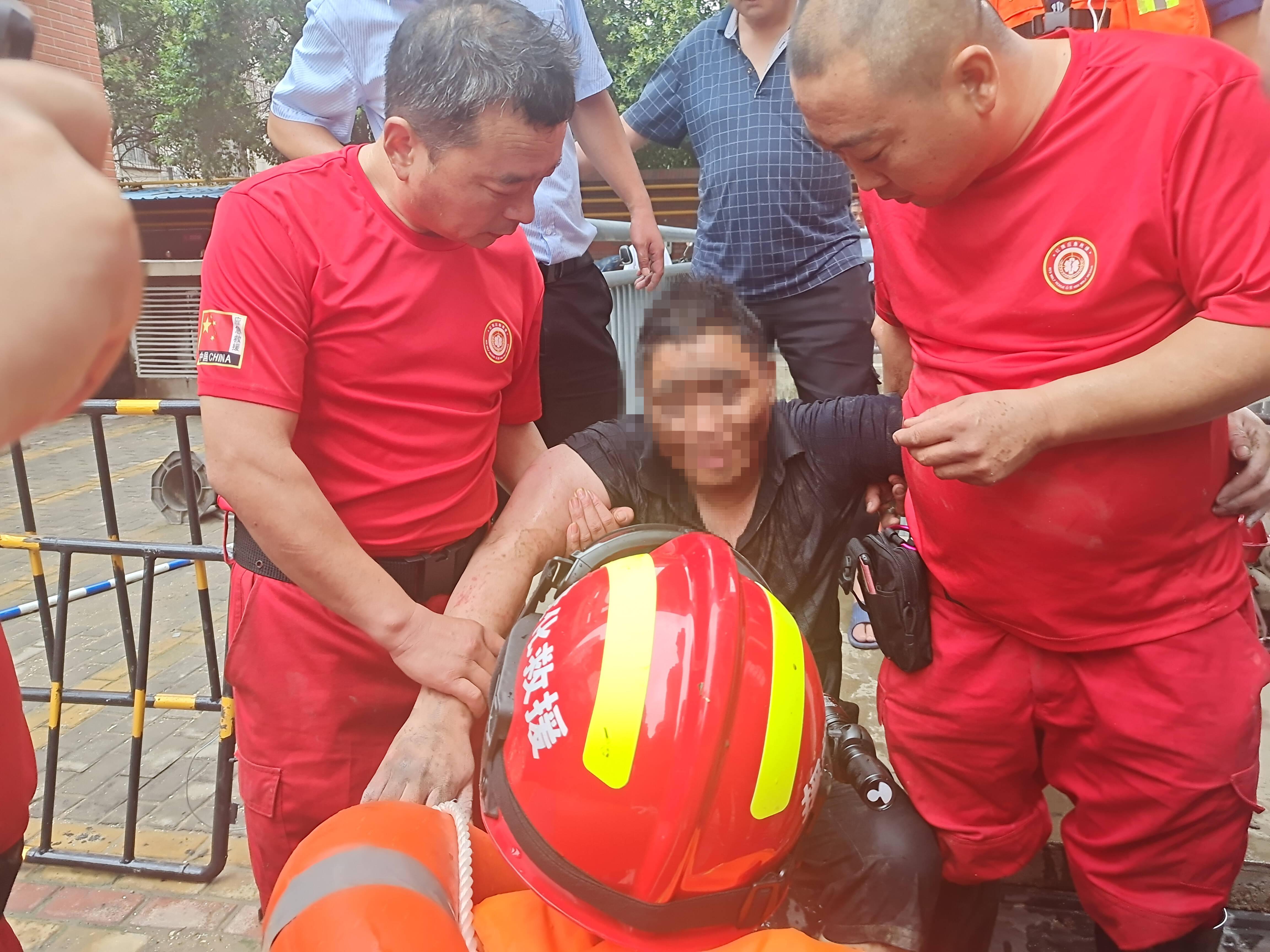 失联4天 ,郑州这名男子被山东省危化品堵漏抢险救援中心成功营救