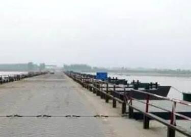聊城东阿境内黄河浮桥已全部拆除,请注意绕行