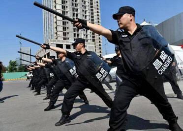 潍坊市公安局组织开展全市保安行业主题宣传日活动
