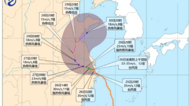 """闪电气象吧丨""""烟花""""来袭 潍坊将迎来大到暴雨 阵风可达10级"""