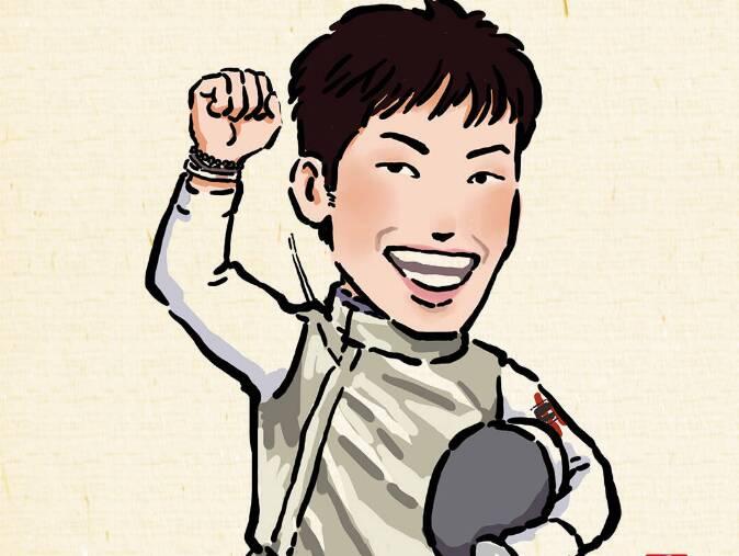漫画奥运丨香港回归后 奥运第一金