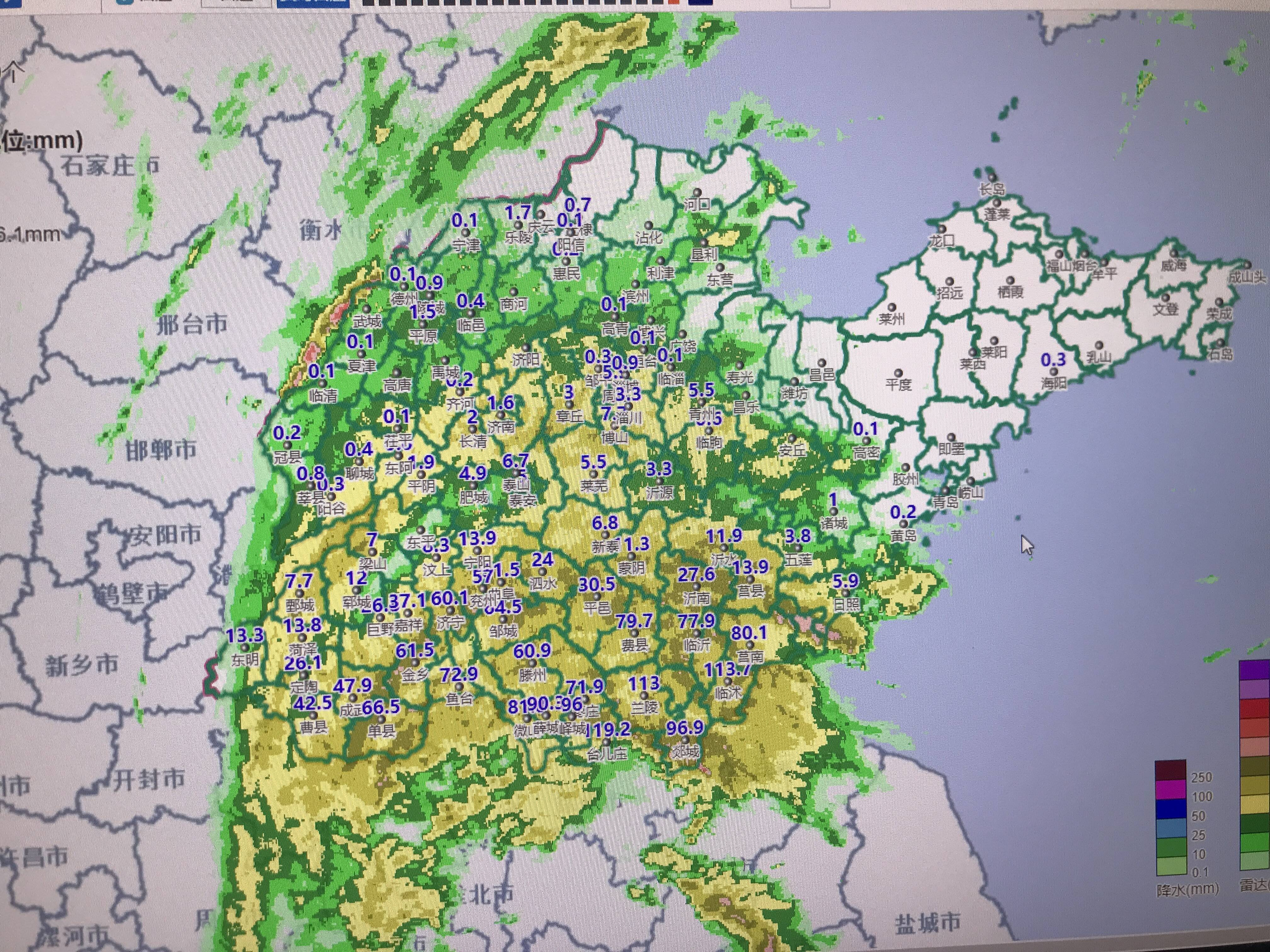 """临沂、枣庄等4市出现暴雨!台风""""烟花""""越来越近,强降雨将逐渐北推"""